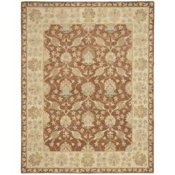 Safavieh Handmade Farahan Brown/ Taupe Wool Rug (7'6 x 9'6) - Thumbnail 0