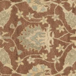 Safavieh Handmade Farahan Brown/ Taupe Wool Rug (8' Round) - Thumbnail 2