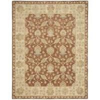 Safavieh Handmade Farahan Brown/ Taupe Wool Rug (8'3 x 11')