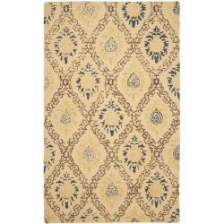 Safavieh Handmade Traditions Beige Wool Rug - 7'6 x 9'6 - Thumbnail 0