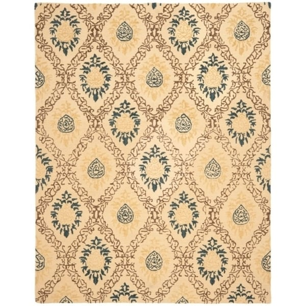 "Safavieh Handmade Traditions Beige Wool Rug - 8'-3"" X 11'"