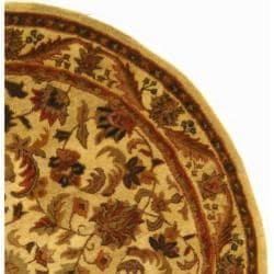 Safavieh Handmade Heritage Ivory Wool Rug (3'6 Round) - Thumbnail 1