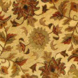 Safavieh Handmade Heritage Ivory Wool Rug (3'6 Round) - Thumbnail 2