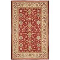 Safavieh Hand-hooked Tabriz Rust/ Ivory Wool Rug - 5'3 x 8'3