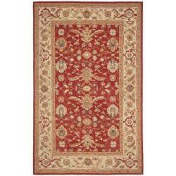 Safavieh Hand-hooked Tabriz Rust/ Ivory Wool Rug (6' x 9')