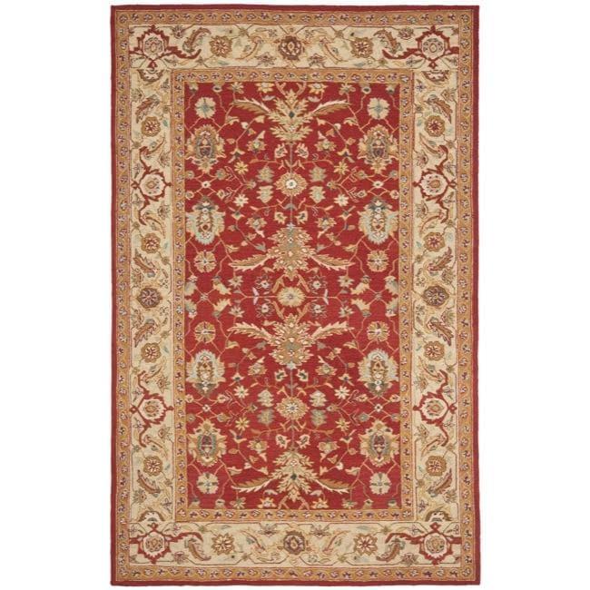 Safavieh Hand-hooked Tabriz Rust/ Ivory Wool Rug (7'9 x 9'9)