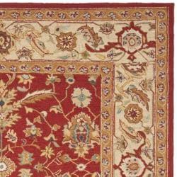 Safavieh Hand-hooked Tabriz Rust/ Ivory Wool Rug (7'9 x 9'9) - Thumbnail 1