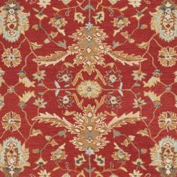 Safavieh Hand-hooked Tabriz Rust/ Ivory Wool Rug (7'9 x 9'9) - Thumbnail 2