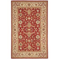Safavieh Hand-hooked Tabriz Rust/ Ivory Wool Rug - 7'9 x 9'9 - Thumbnail 0