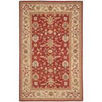 Safavieh Hand-hooked Tabriz Rust/ Ivory Wool Rug - 7'9 x 9'9