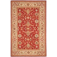 "Safavieh Hand-hooked Tabriz Rust/ Ivory Wool Rug - 7'9"" x 9'9"""