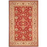 "Safavieh Hand-hooked Tabriz Rust/ Ivory Wool Rug - 8'9"" x 11'9"""