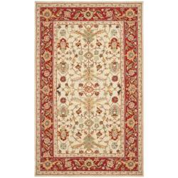 Safavieh Hand-hooked Tabriz Ivory/ Red Wool Rug (3'9 x 5'9)