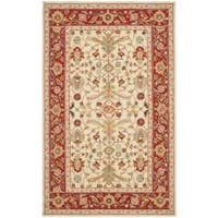 Safavieh Hand-hooked Tabriz Ivory/ Red Wool Rug - 6' x 9'
