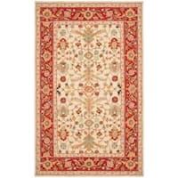Safavieh Hand-hooked Tabriz Ivory/ Red Wool Rug - 6' x 9'
