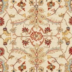 Safavieh Hand-hooked Tabriz Ivory/ Red Wool Rug (7'9 x 9'9) - Thumbnail 2