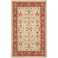 Safavieh Hand-hooked Tabriz Ivory/ Red Wool Rug - 7'9 x 9'9