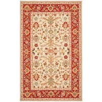 "Safavieh Hand-hooked Tabriz Ivory/ Red Wool Rug - 7'-9"" x 9'-9"""