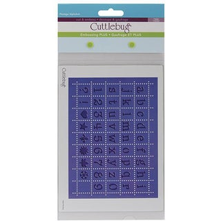 Cricut Cuttlebug Plus Perforated Postage Alpha 5x7-in Embossing Folder