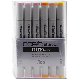 Copic Ex-2 Sketch 12-pc Marker Set