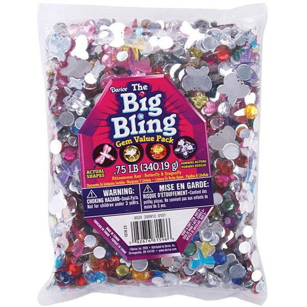 Butterflies/ Dragonflies/ Round Rhinestone Shapes (0.75 Pounds)