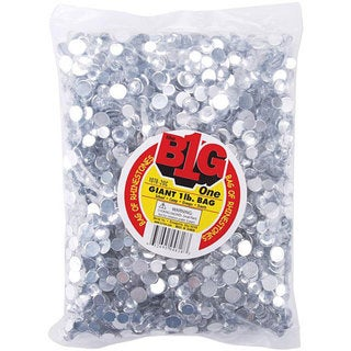 One-pound Value Bag of Clear Round Rhinestones in Assorted Sizes