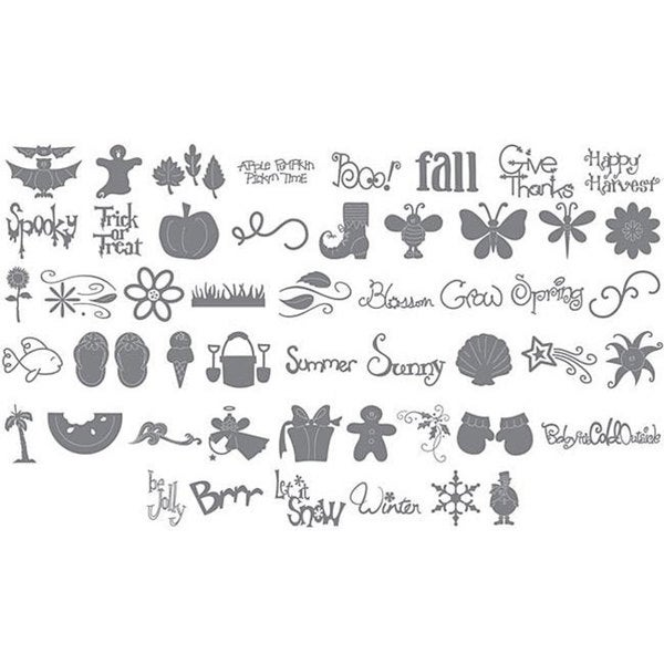 Sizzix Eclips Seasonal Cartridge with Over Fifty Basic Shapes