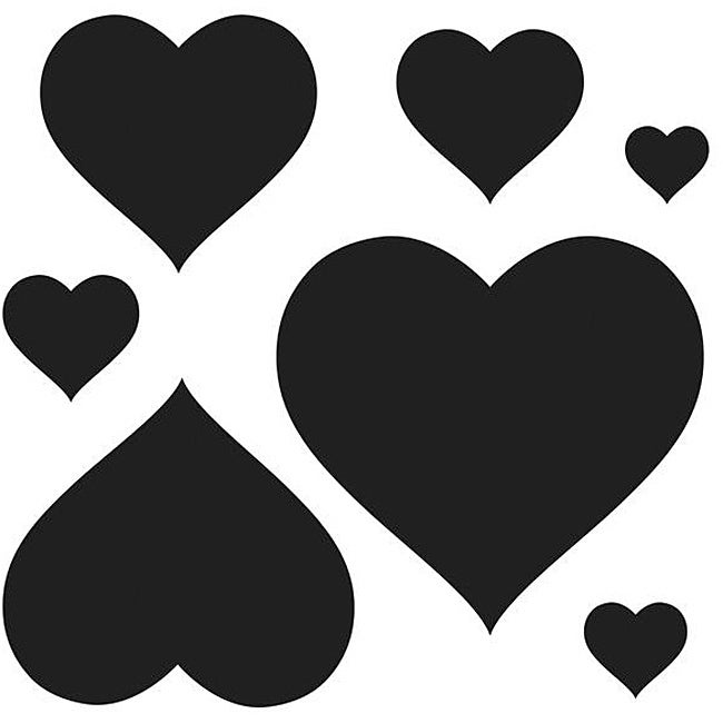 Crafter's Workshop Hearts 12x12-inch Templates