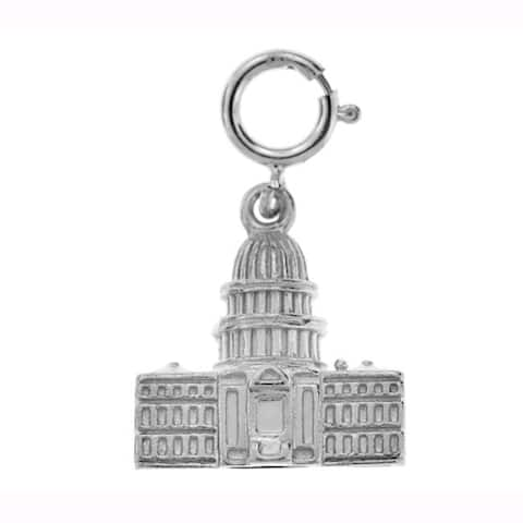 Sterling Silver Capitol Charm