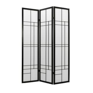 Handmade Wood and Rice Paper Eudes Shoji Screen (China)