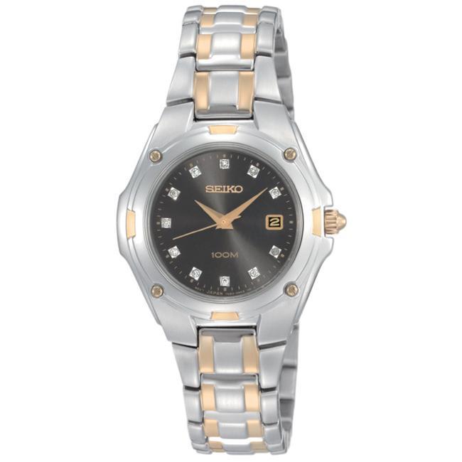 Seiko Women's 'Bracelet' Two-tone Steel Quartz Diamond Watch