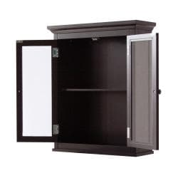 Classique Espresso 2-door Wall Cabinet by Elegant Home Fashions