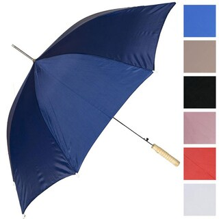 RainWorthy 48-inch Solid Color Automatic Umbrellas (Case of 24) (Option: Black)