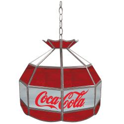 Coca-Cola Stained Glass 16-inch Tiffany Lamp - Thumbnail 1