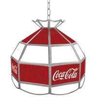 """Coca-Cola Stained Glass 16-inch Tiffany Lamp - 16"""""""