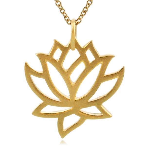 Tressa Sterling Silver Vermeil-style Lotus Necklace