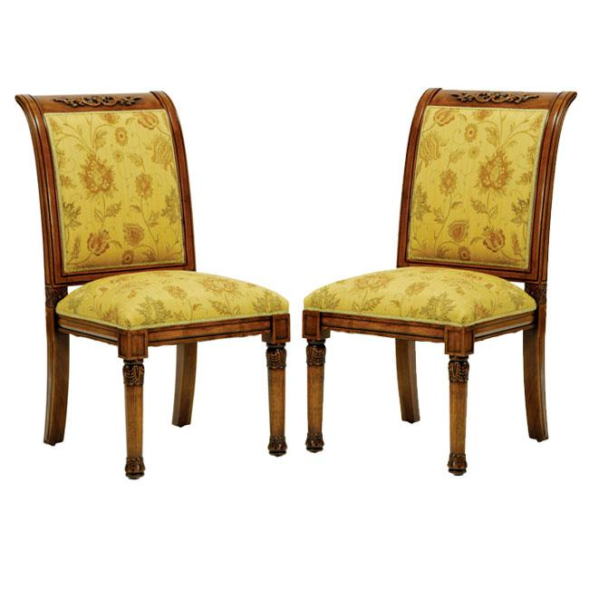 Safavieh Old World Dining English Light Gold/ Brown Dining Chairs (Set of 2)