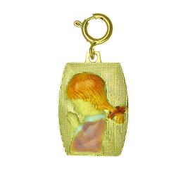 14kt Yellow Gold Praying Girl Charm