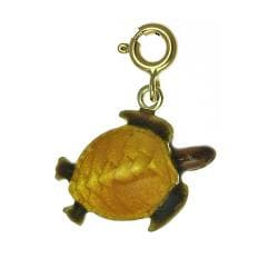 Yellow 14-karat Gold Enamel Turtle