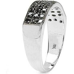 Malaika Sterling Silver 3/8ct TDW Black Diamond Fashion Ring
