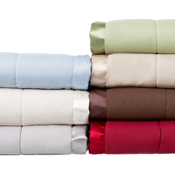 Solid Colored Microfiber Down Alternative Blanket. Opens flyout.