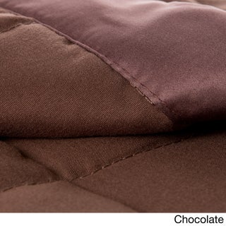 Solid Colored Microfiber Down Alternative Blanket (More options available)