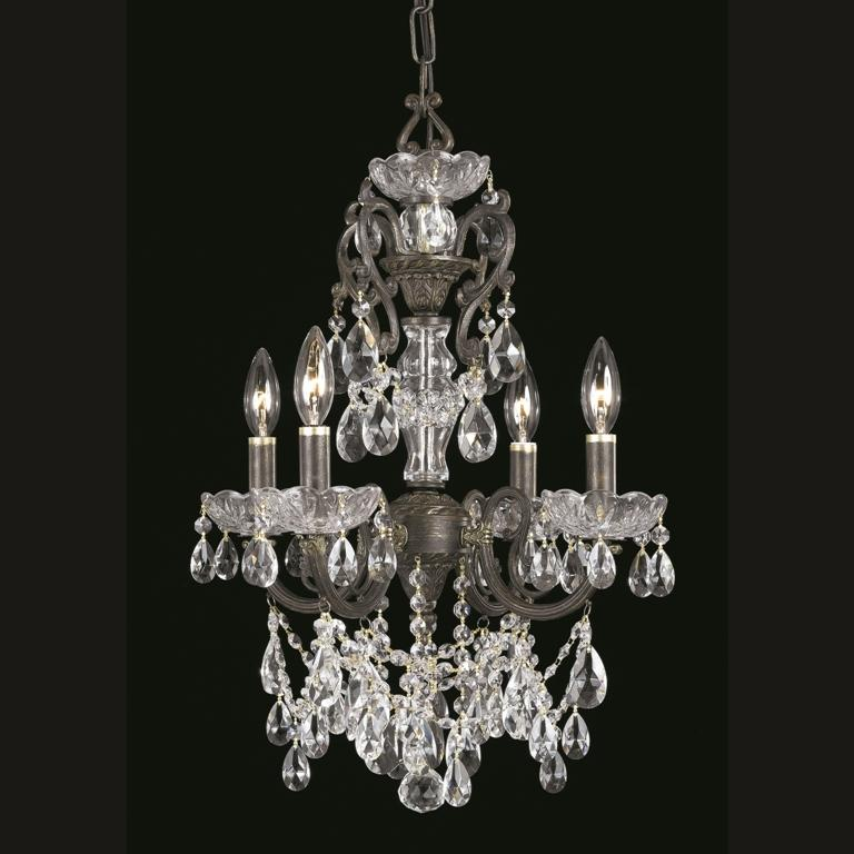 Crystorama Legacy 4-light English Bronze Chandelier