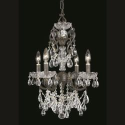 Crystorama Legacy 4-light English Bronze Chandelier - Thumbnail 2