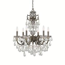 Crystorama Legacy 6-light English Bronze Chandelier - Thumbnail 1