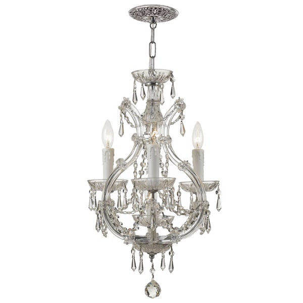 Crystorama Maria Theresa 3-light Polished Chrome Mini Chandelier