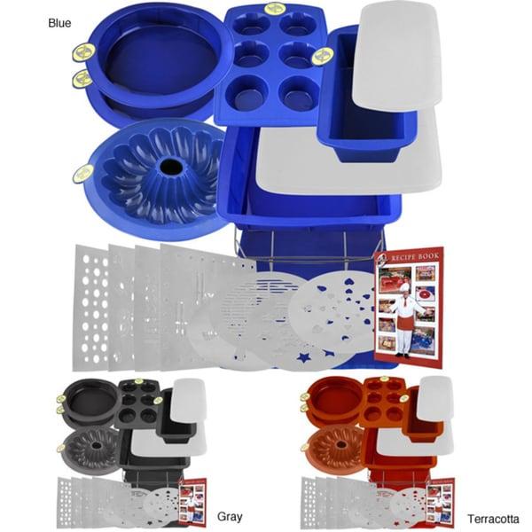 Smartware Deluxe 19-piece Silicone Bakeware Set