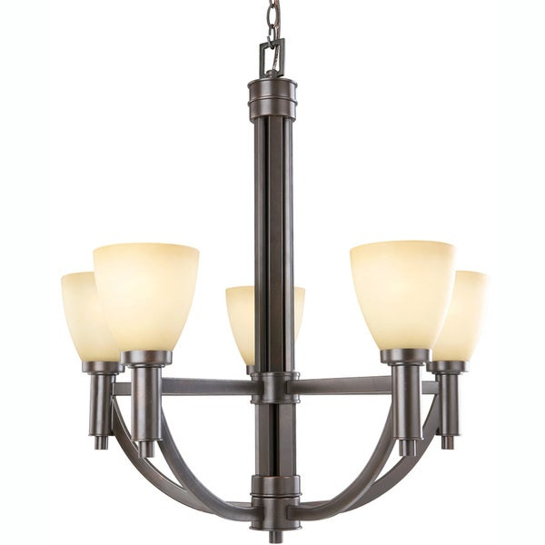 Indoor 5-light Golden Taupe Bronze Chandelier
