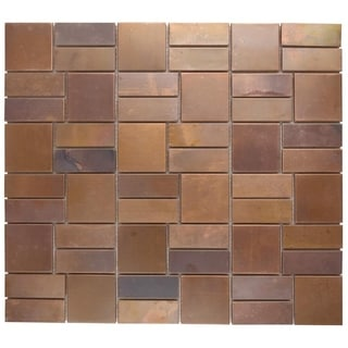 SomerTile 11.75x13-in Flat Copper Mosaic Tile (Pack of 5)