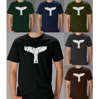Los Angeles Pop Art Men's Save The Whales T-Shirt